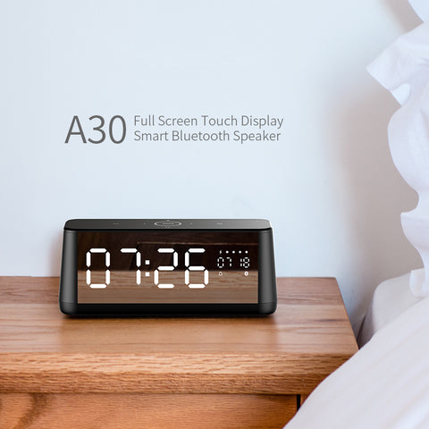 MIFA A30 Wireless Portable Metal Full Screen Display Bluetooth Speaker 30W Power OSD Touch Control Speakers With Alarm Clock
