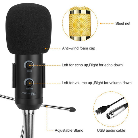 FELYBY Professional Studio USB Condenser Microphone
