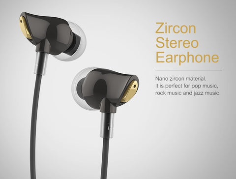 Rock Remote Control Stereo Earphone