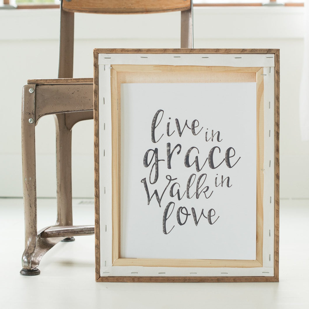 Live in Grace fine art print