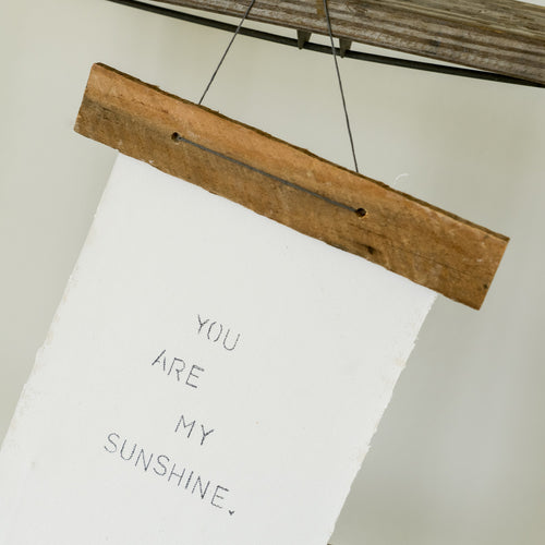 SUNSHINE canvas and wood wall art