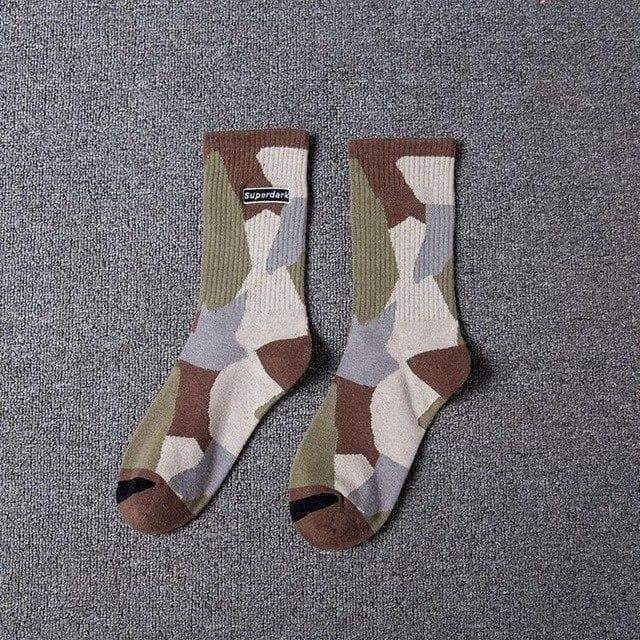 YAYUKATA Accessories coffee YAYUKATA SuperDark Camo Socks