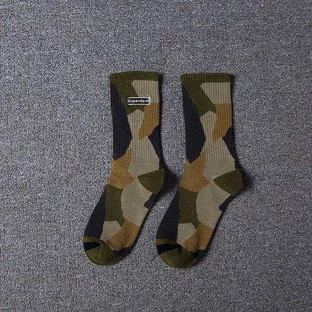 YAYUKATA Accessories Green YAYUKATA SuperDark Camo Socks