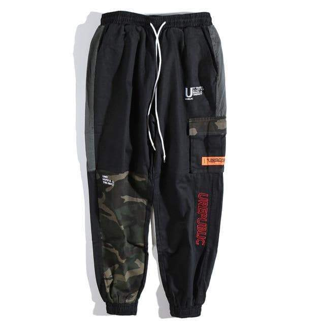 YAYUKATA Bottom Wear YAYUKATA Harajuku P2 Camo Patchwork Pants