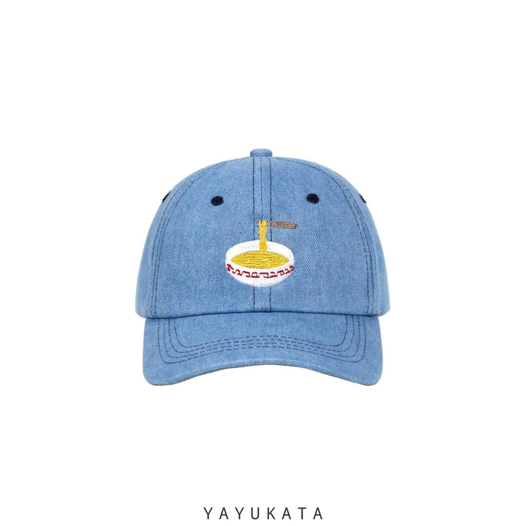 YAYUKATA Caps & Hats BLUE / One Size MK7 Noodles Embroidery Base Cap