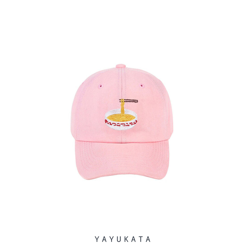 YAYUKATA Caps & Hats PINK / One Size MK7 Noodles Embroidery Base Cap