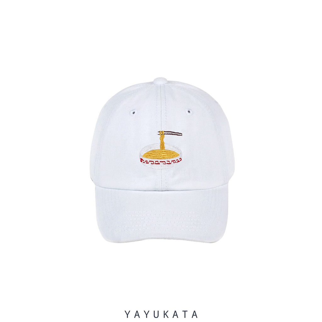 YAYUKATA Caps & Hats WHITE / One Size MK7 Noodles Embroidery Base Cap