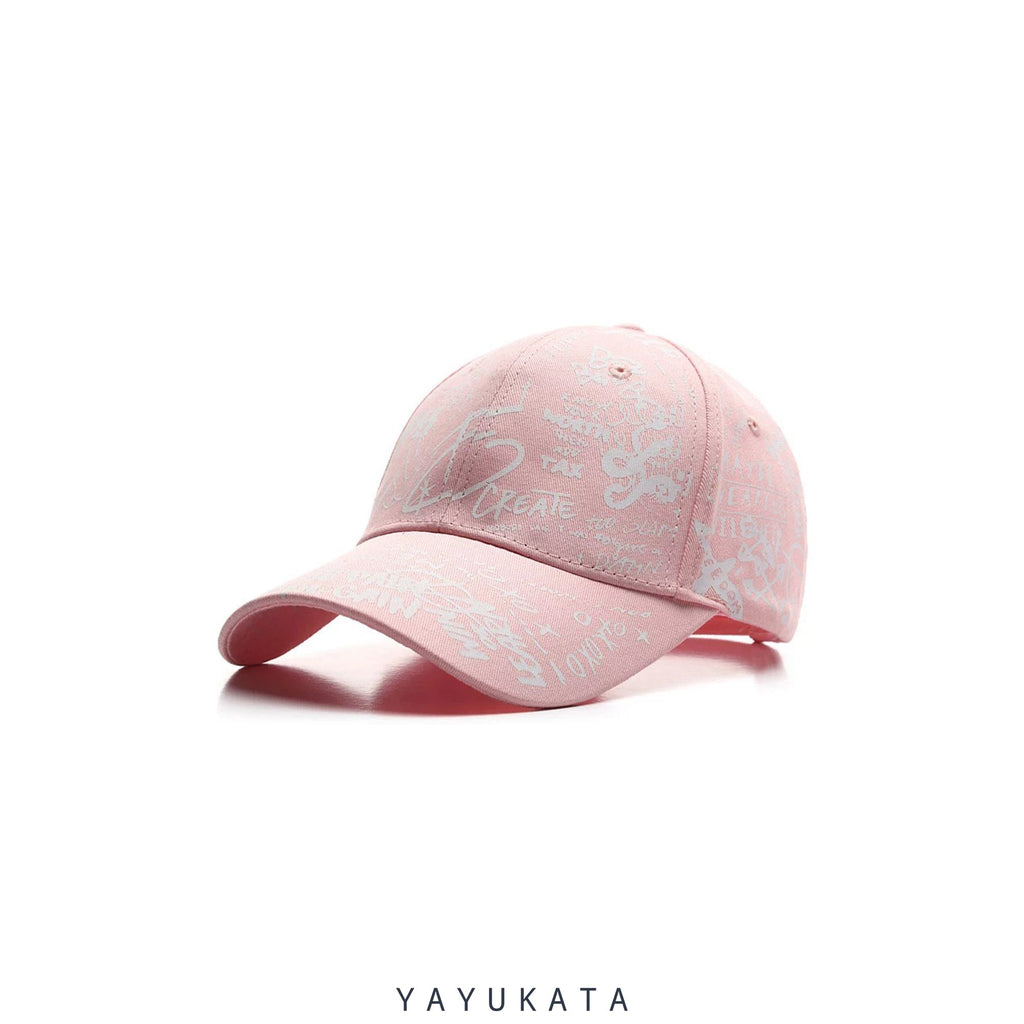 YAYUKATA Caps & Hats ZR2 Graffiti Print Cap