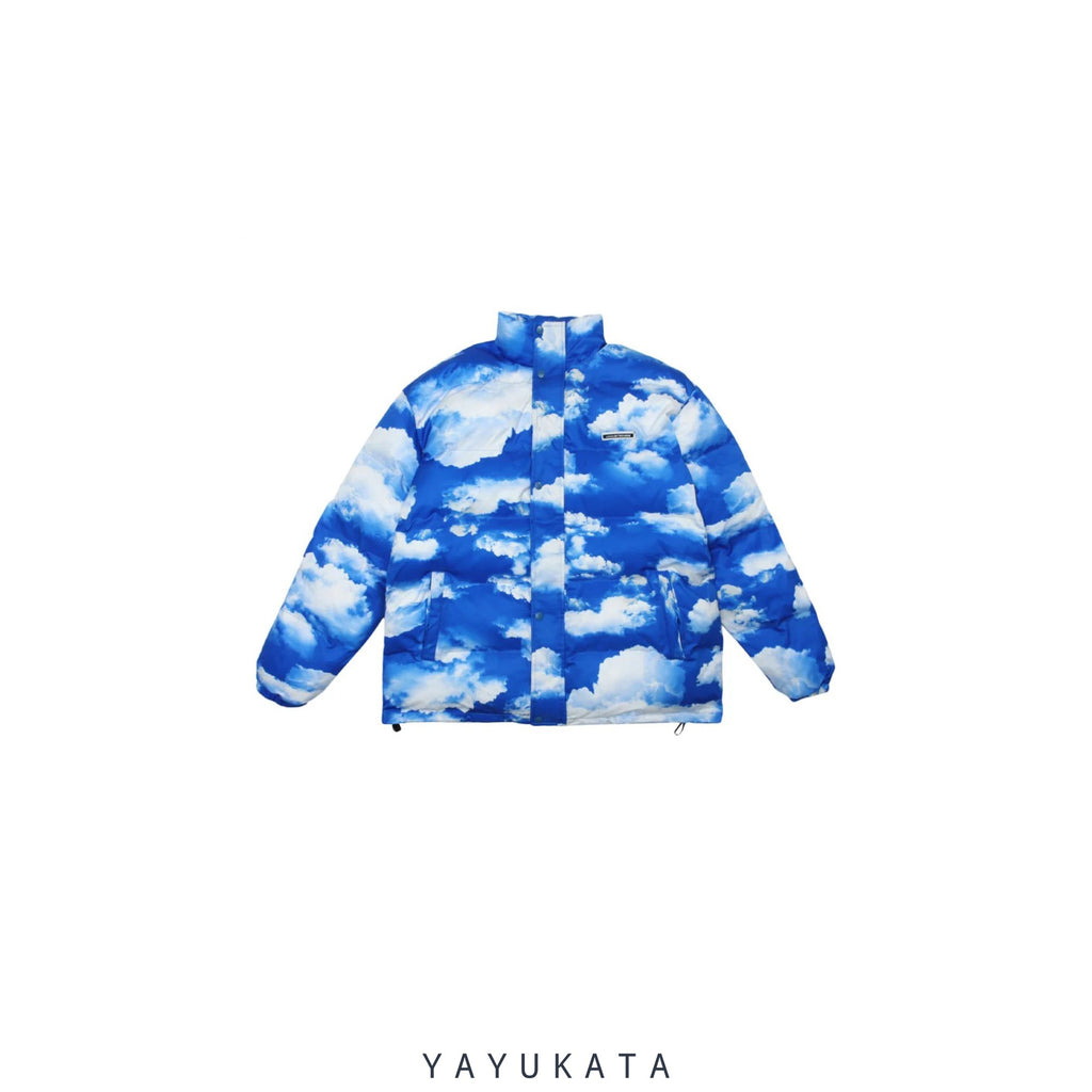 "YAYUKATA Coats & Jackets BLUE / XL MA2 ""Cloud"" Print Harajuku Streetwear Winter Jacket"
