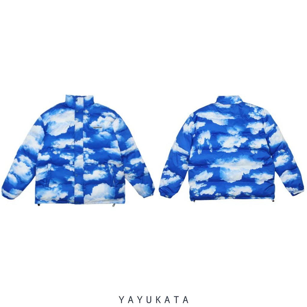 "YAYUKATA Coats & Jackets MA2 ""Cloud"" Print Harajuku Streetwear Winter Jacket"