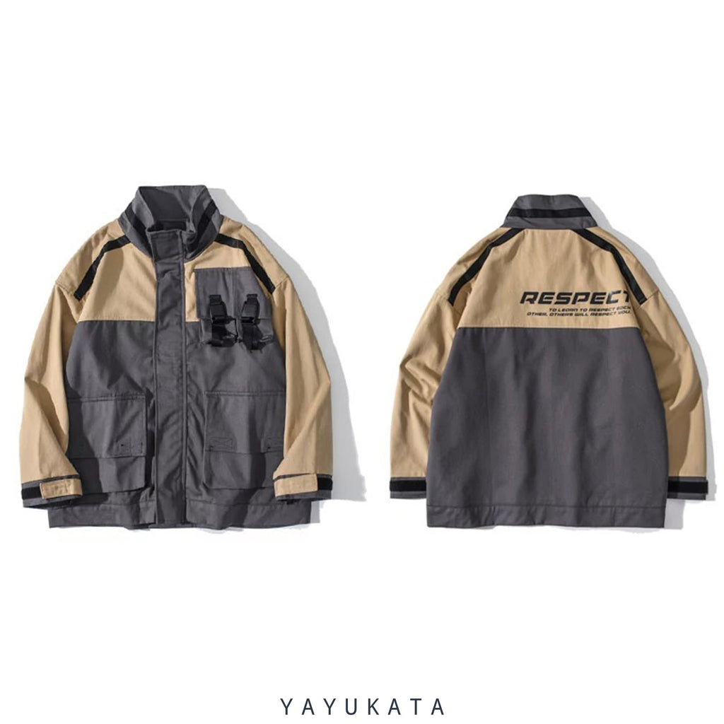YAYUKATA Coats & Jackets MA5 Multi-Pockets Color Block Harajuku Coat