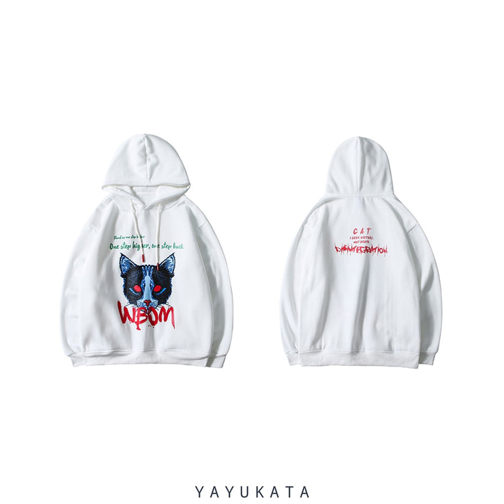 "YAYUKATA Hoodies AF8 ""Demon Cat"" Thick Hooded Sweater"