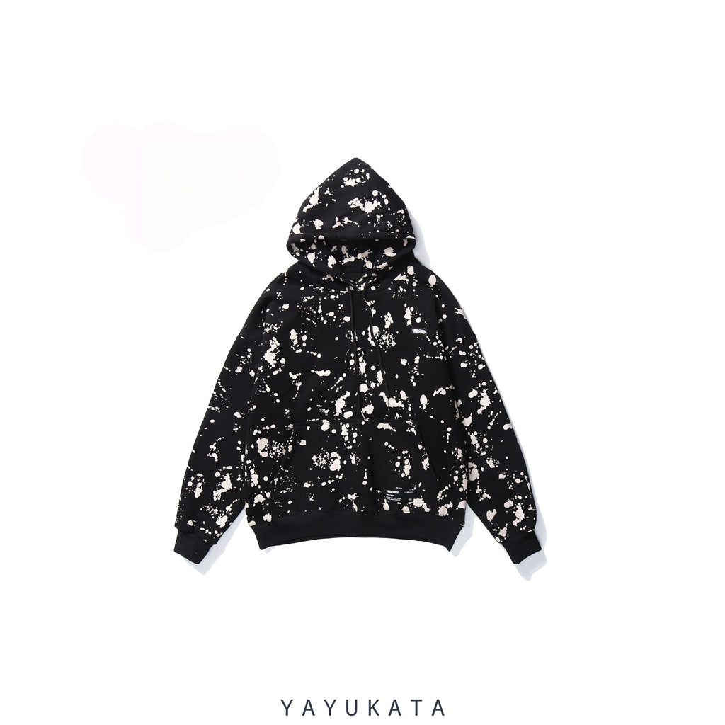 YAYUKATA Hoodies BLACK / S VD3 Graffiti Printed Cotton Hoodie
