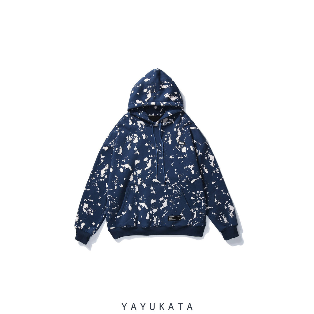 YAYUKATA Hoodies BLUE / S VD3 Graffiti Printed Cotton Hoodie