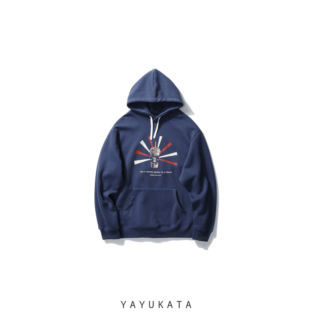 "YAYUKATA Hoodies BLUE / XS VE6 ""Bubble Tea"" Print Hoodie"