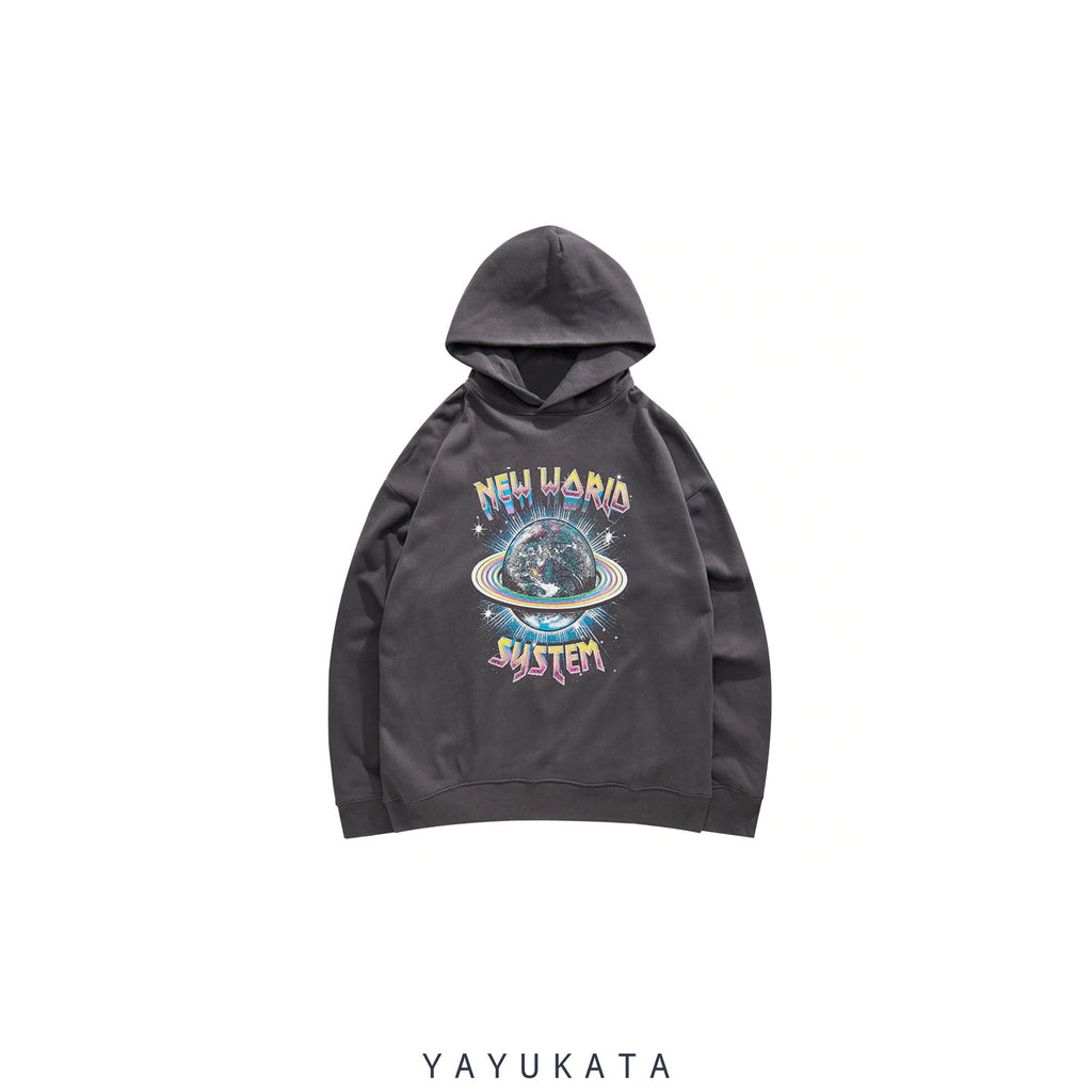 YAYUKATA Hoodies GRAY / M ZI9 New World Printed Streetwear Hoodie