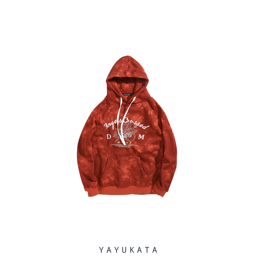 YAYUKATA Hoodies ORANGE / S WL1 Casual Chinese Print Hoodie