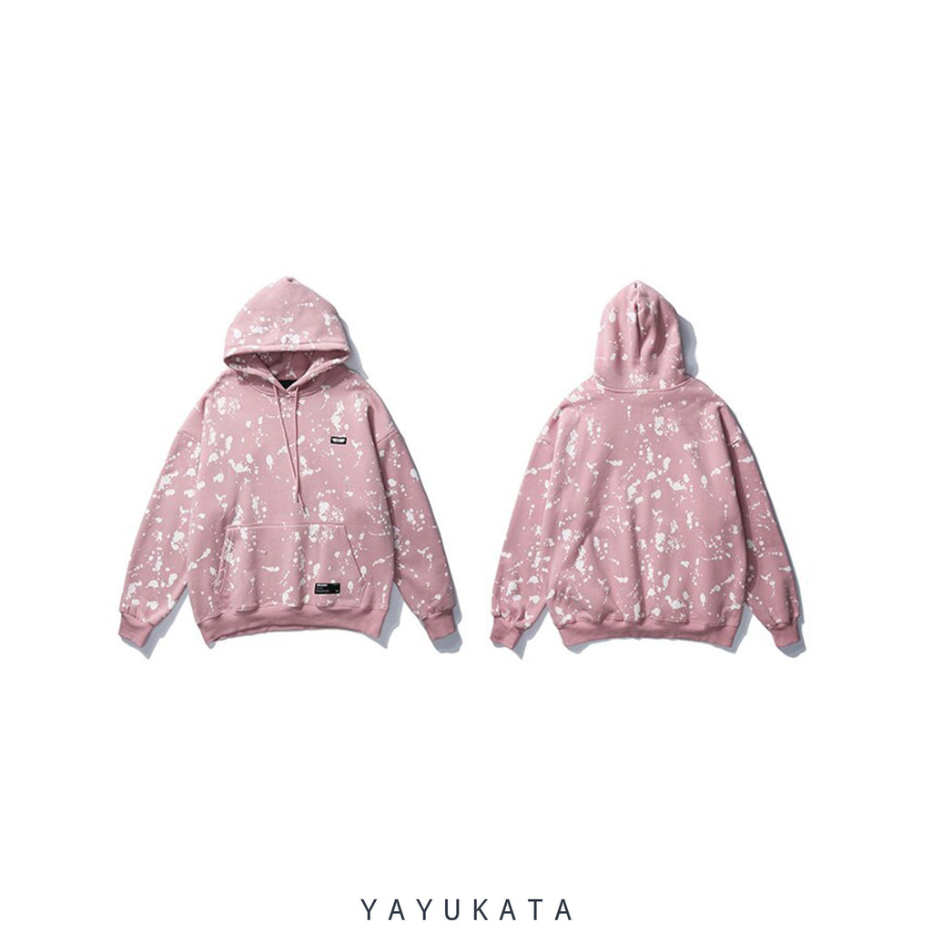 YAYUKATA Hoodies PINK / S VD3 Graffiti Printed Cotton Hoodie