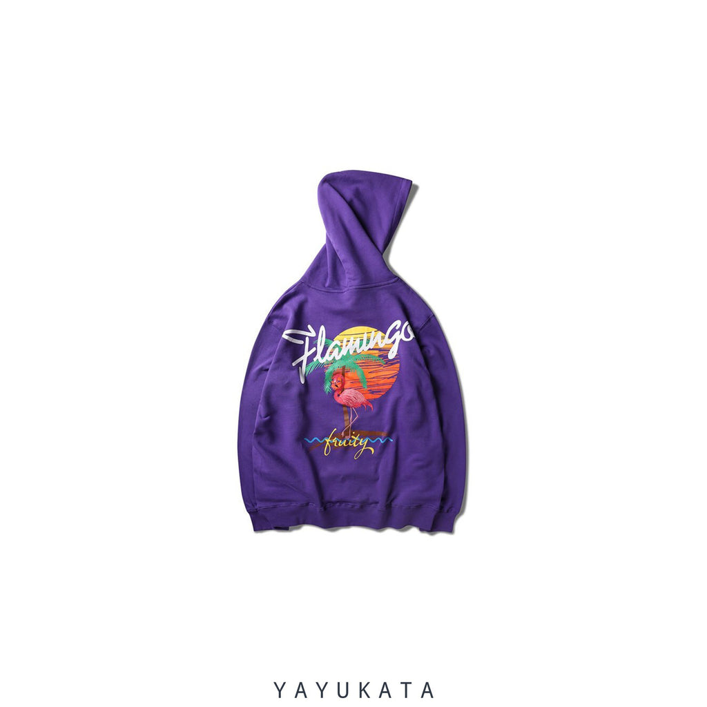 YAYUKATA Hoodies Purple / M FX1 Embroidered Retro Hoodie