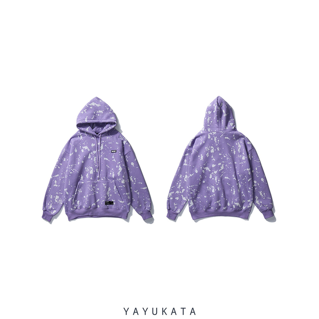 YAYUKATA Hoodies PURPLE / S VD3 Graffiti Printed Cotton Hoodie