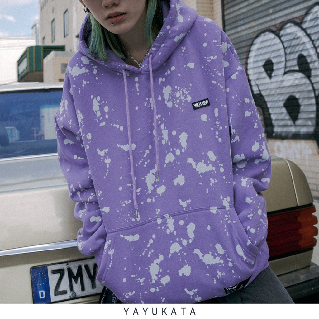YAYUKATA Hoodies VD3 Graffiti Printed Cotton Hoodie