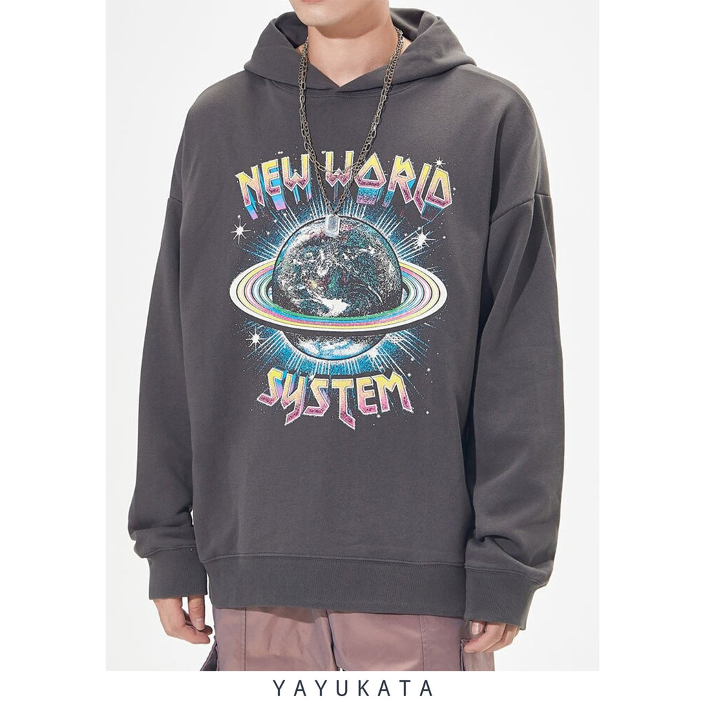 YAYUKATA Hoodies ZI9 New World Printed Streetwear Hoodie