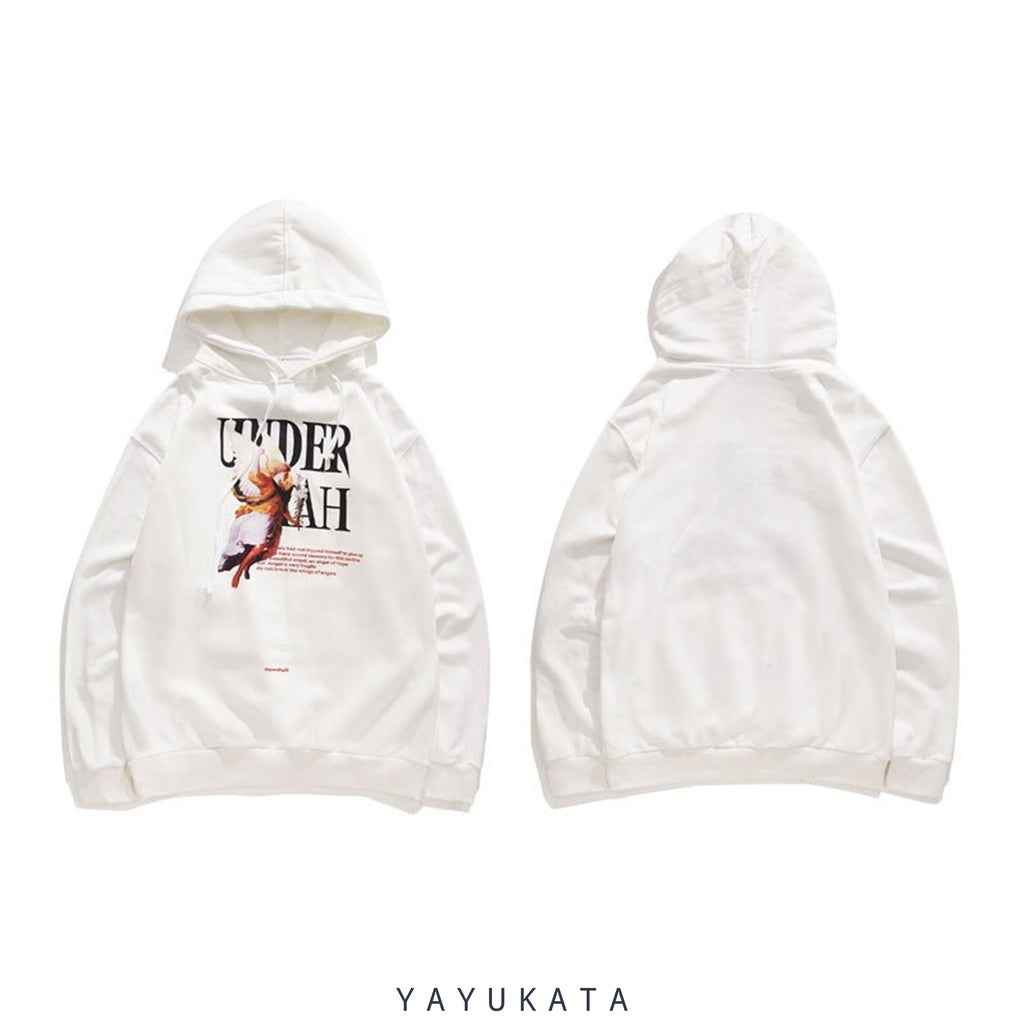 YAYUKATA Hoodies ZJ0 Bad Angel Printed Hoodie