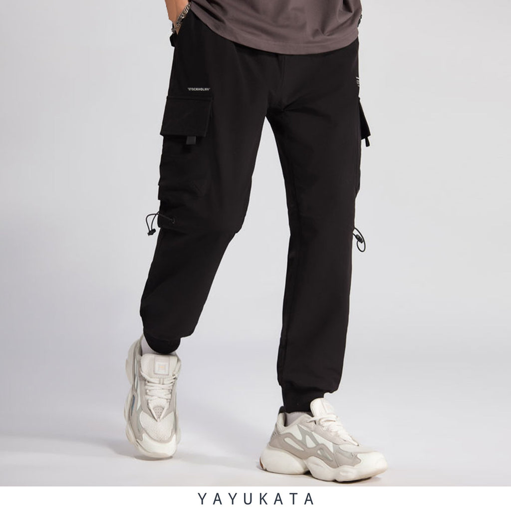 YAYUKATA Pants & Shorts BLACK / L QW7 Casual Street Wear Joggers