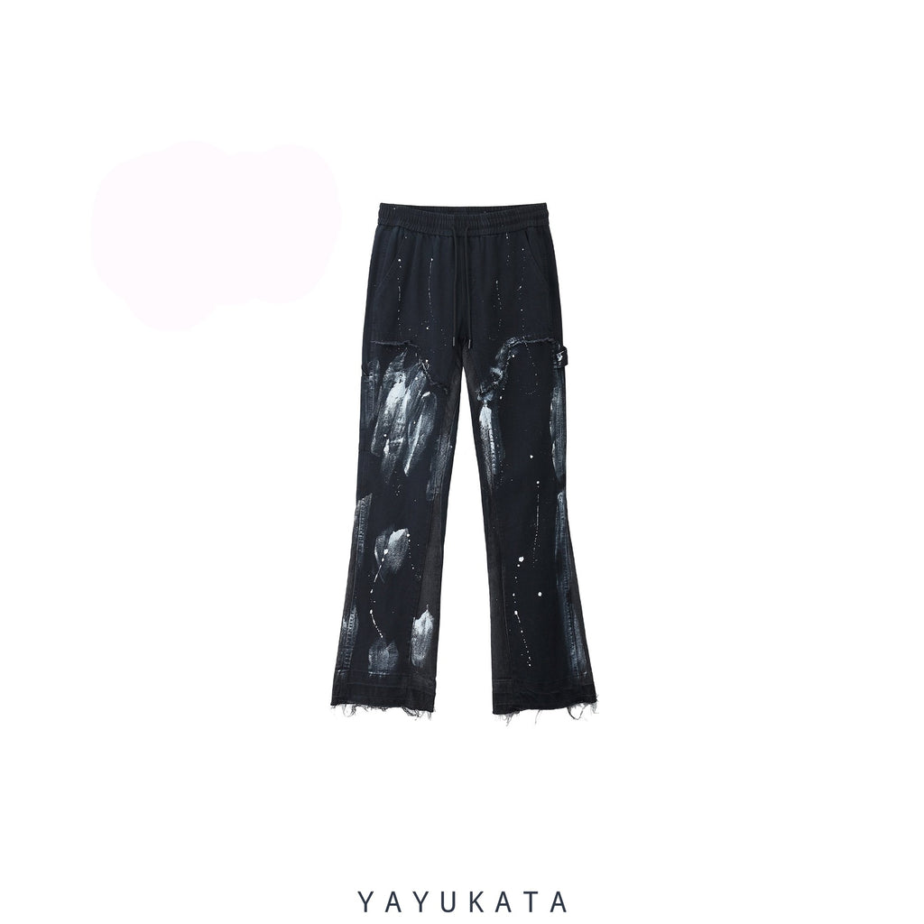 YAYUKATA Pants & Shorts BLACK / S VE2 Loose Washed Vintage Pants