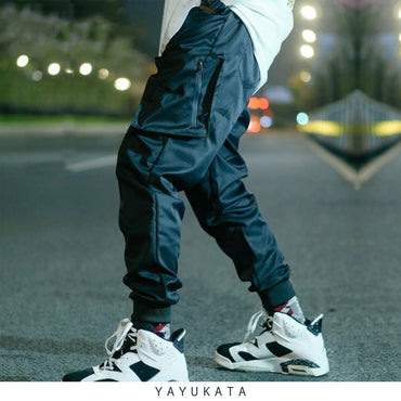 YAYUKATA Pants & Shorts Black / S YAYUKATA HC2 Side Zipper Streetwear Joggers
