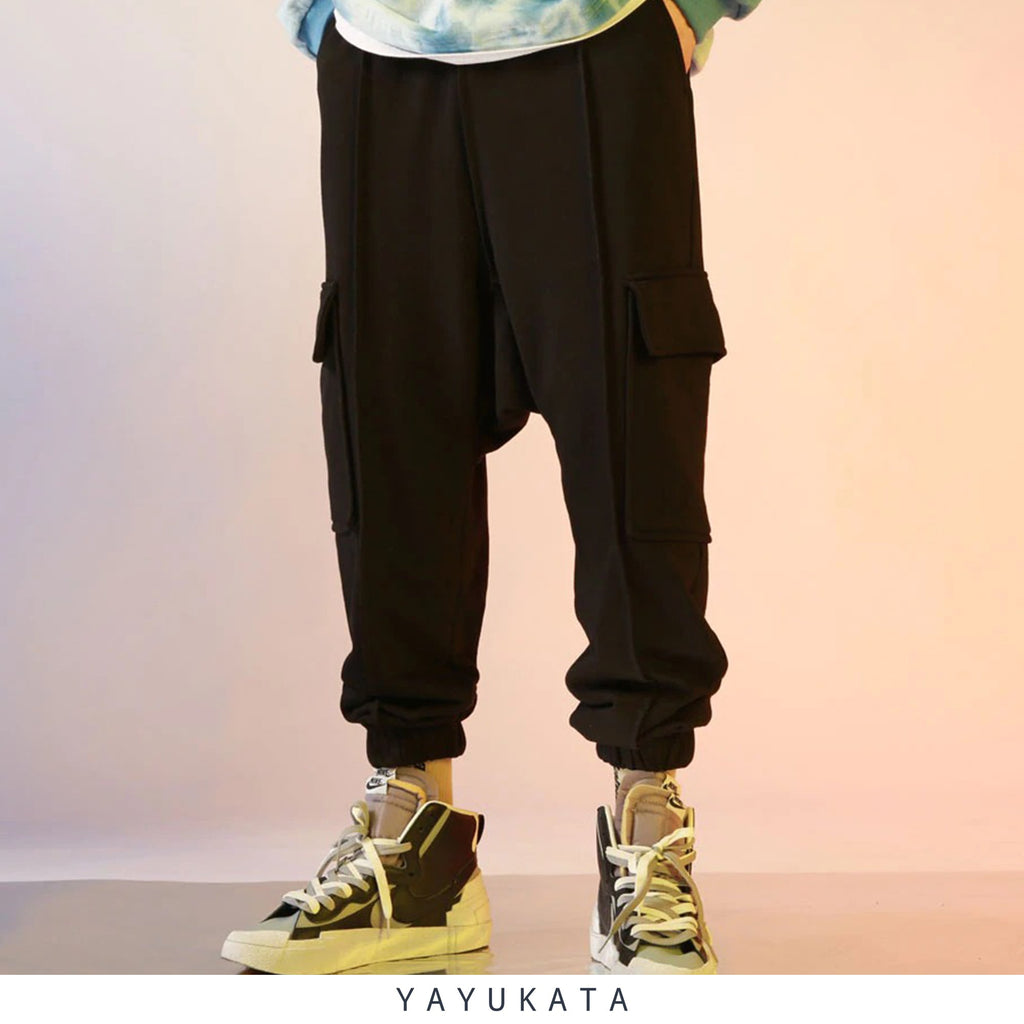 YAYUKATA Pants & Shorts BLACK / XXL ZC6 Casual Baggy Harajuku Sweat Pants