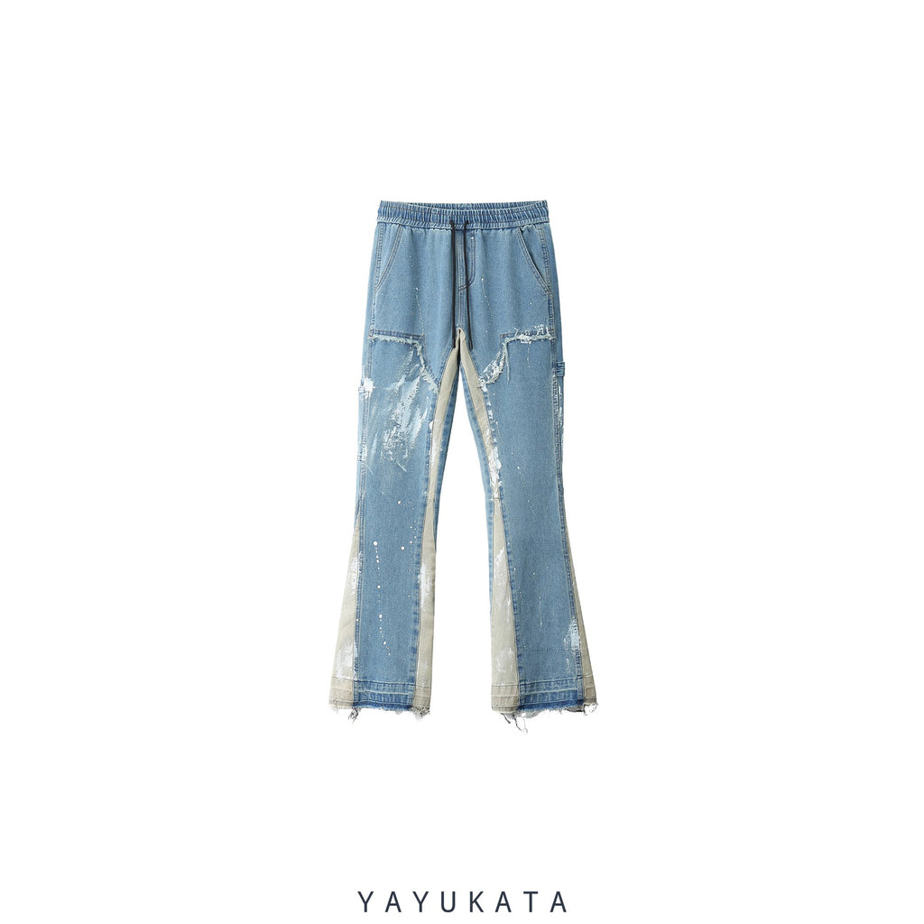 YAYUKATA Pants & Shorts BLUE / L VE2 Loose Washed Vintage Pants