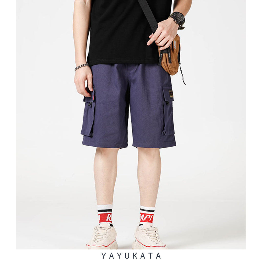 YAYUKATA Pants & Shorts BLUE / XL WC3 Multi Pocket Cargo Shorts