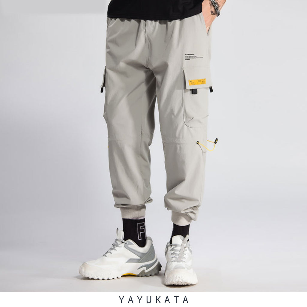 YAYUKATA Pants & Shorts GRAY / L QW7 Casual Street Wear Joggers