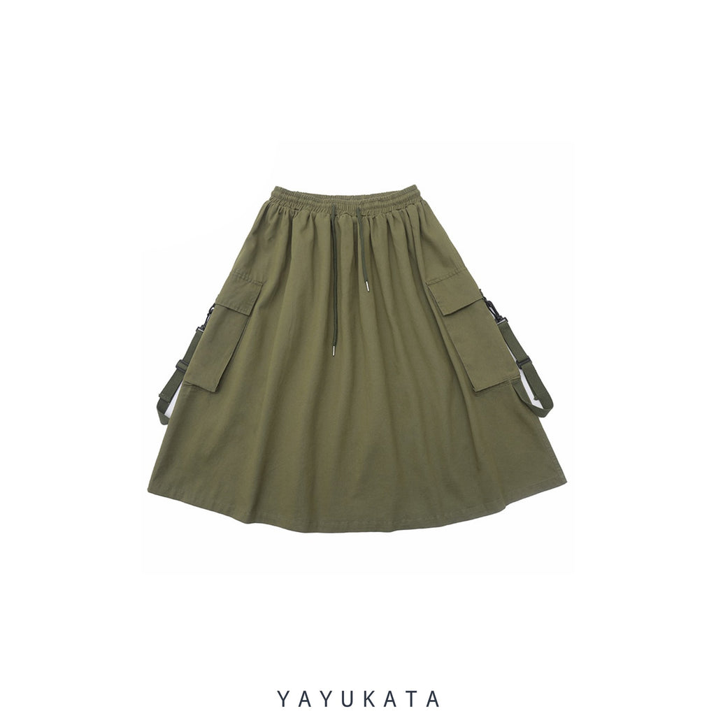 YAYUKATA Pants & Shorts GREEN / 27-36 Inches 72 cm QD6 Harajuku Cargo Bottoms