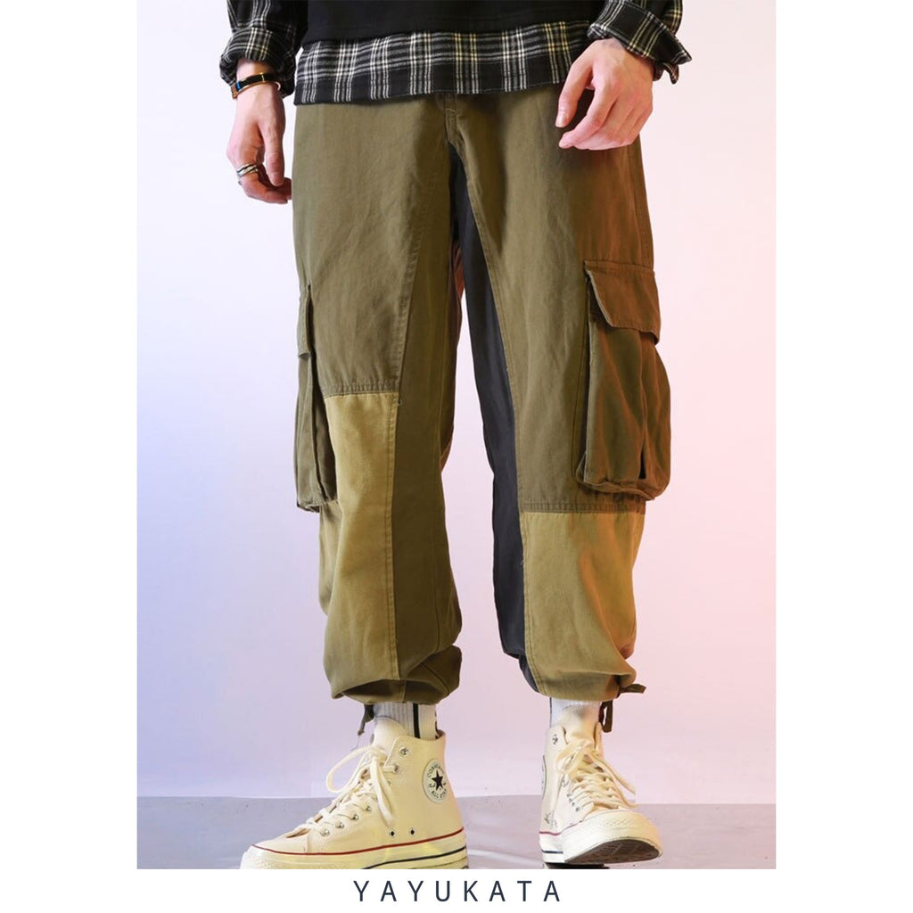 YAYUKATA Pants & Shorts GREEN / XXL ZD5 Loose Multi Pockets Cargo Pants