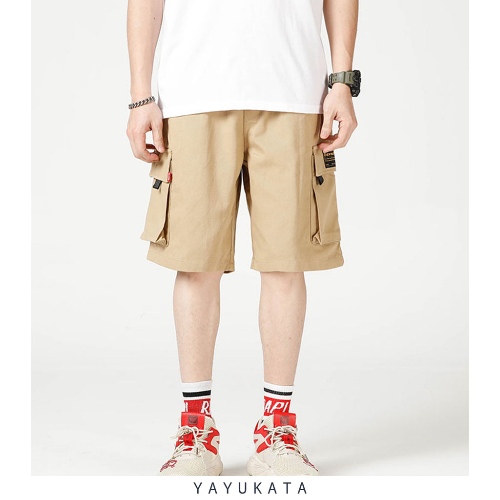 YAYUKATA Pants & Shorts KHAKI / XL WC3 Multi Pocket Cargo Shorts