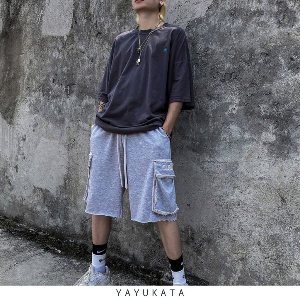 YAYUKATA Pants & Shorts LIGHT GRAY / L QU7 Casual Summer Shorts