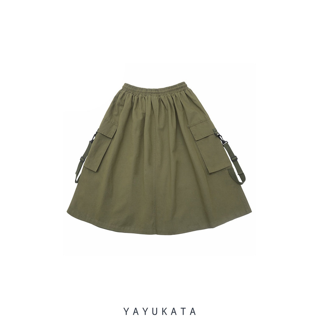 YAYUKATA Pants & Shorts QD6 Harajuku Cargo Bottoms