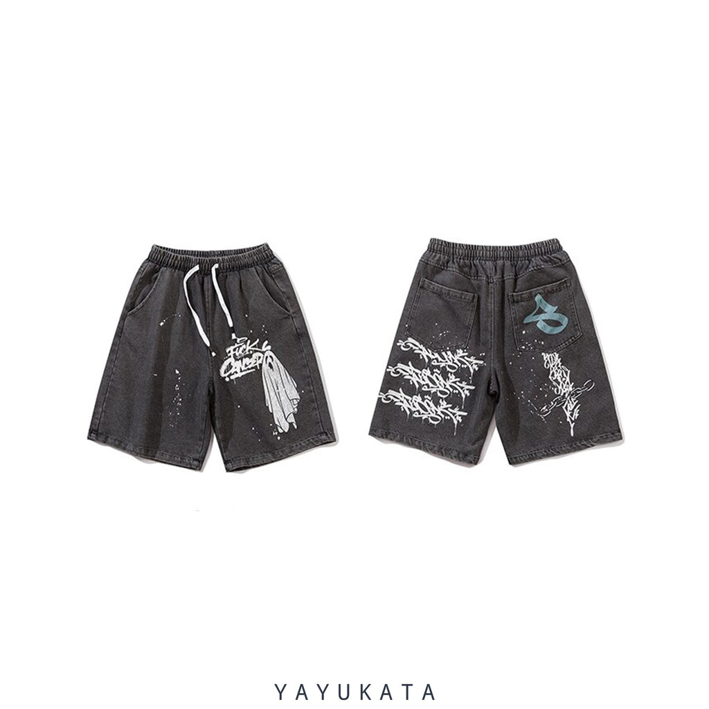 YAYUKATA Pants & Shorts QJ4 Casual Harajuku Summer Shorts