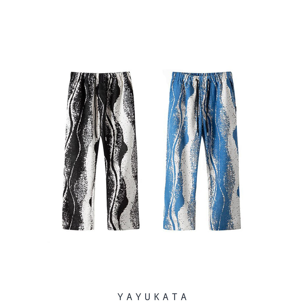 YAYUKATA Pants & Shorts VC7 Casual Color Block Pants