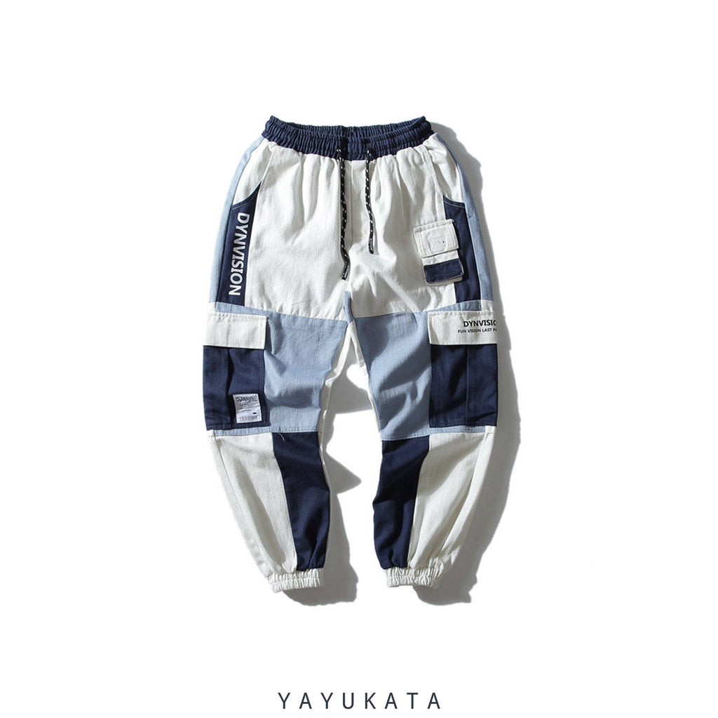 YAYUKATA Pants & Shorts WHITE / XL JI2 Casual Cargo Joggers