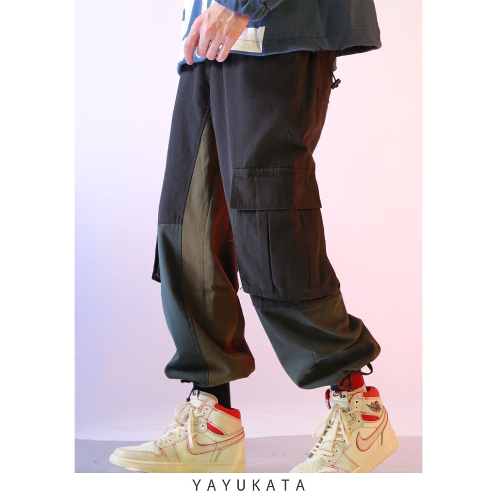 YAYUKATA Pants & Shorts ZD5 Loose Multi Pockets Cargo Pants