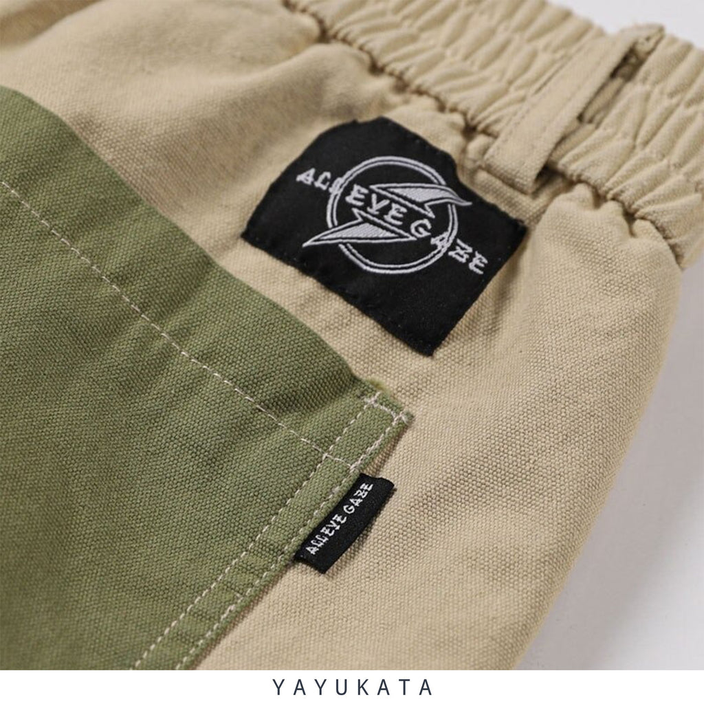 YAYUKATA Pants & Shorts ZD6 Casual Color Block Harajuku Streetwear Pants