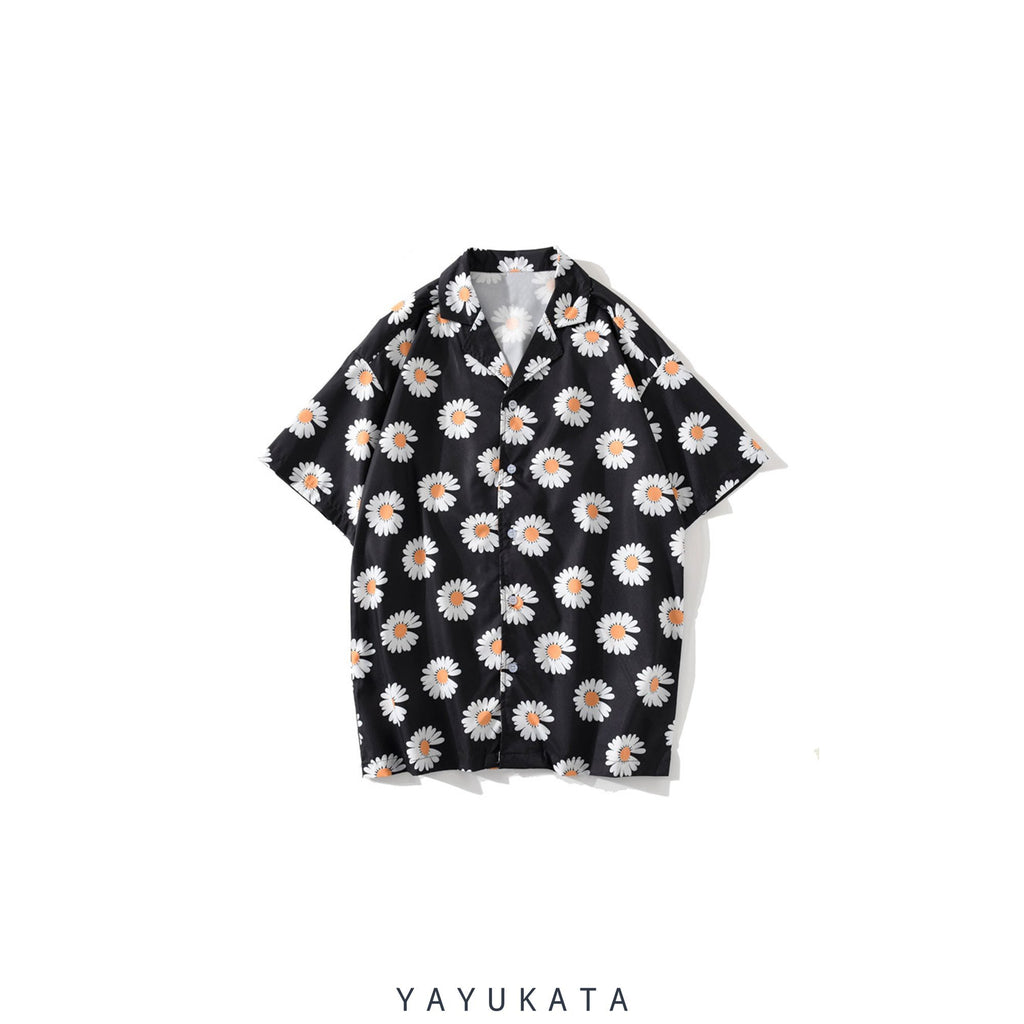 YAYUKATA Shirts BLACK / L YQ3 Printed Harajuku Beach Shirt