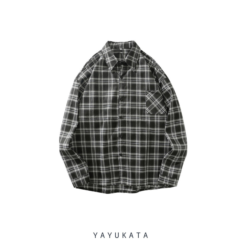 YAYUKATA Shirts L ND2 Harajuku Front Pocket Shirt