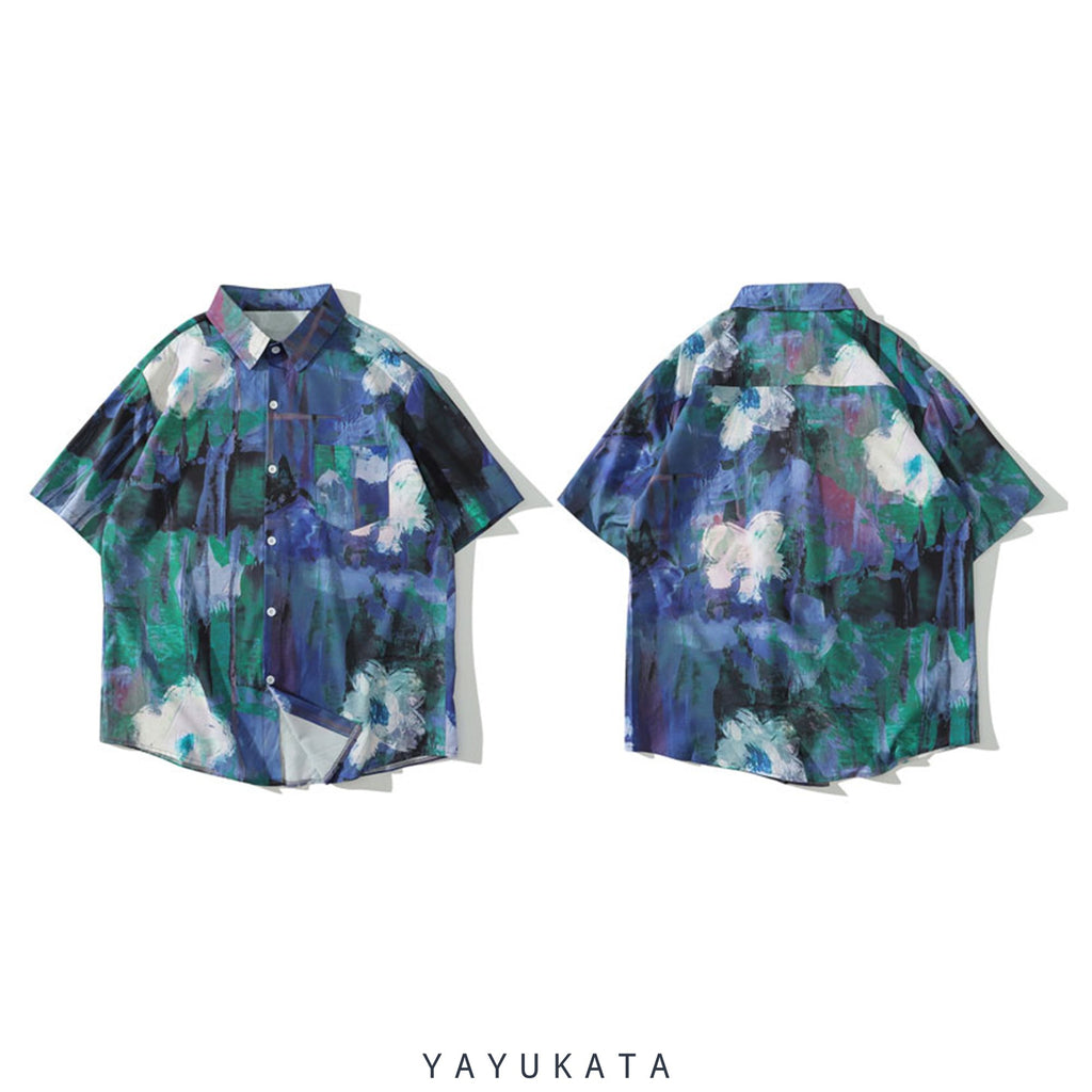 YAYUKATA Shirts WA4 Casual Summer Short Sleeve