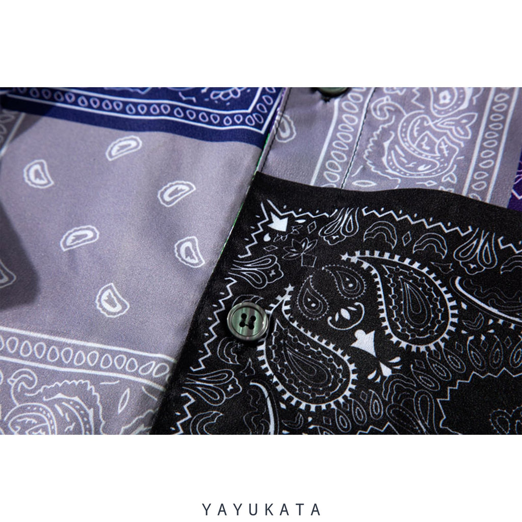 YAYUKATA Shirts WB2 Abstract Summer Shirt