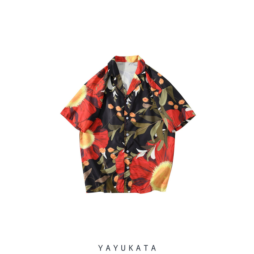 YAYUKATA Shirts XL QF4 Printed Summer Shirt