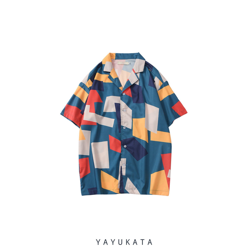 YAYUKATA Shirts XL VV4 Casual Beach Shirt